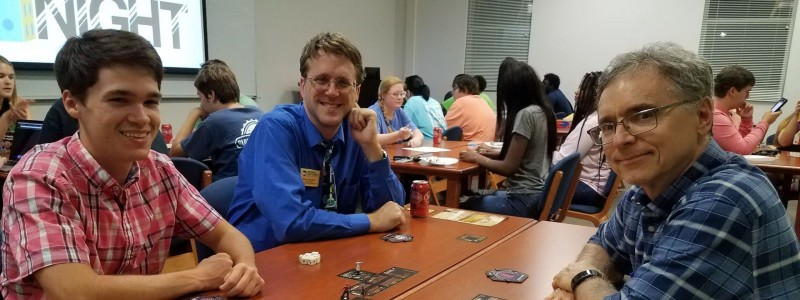 Lab LLC students getting to know the Advisory Board at the Faculty Game Night